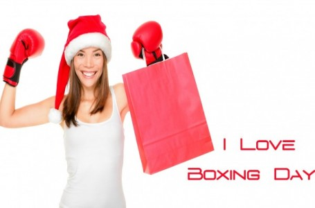 Girl Says I Love Boxing Day Greeting Image