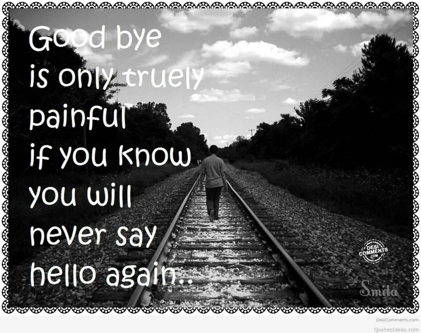 Good Bye Is Only Truly Painful If You Know You Will Never Quotes & Wishes