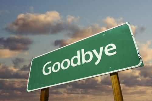 Good Bye Signboard Picture
