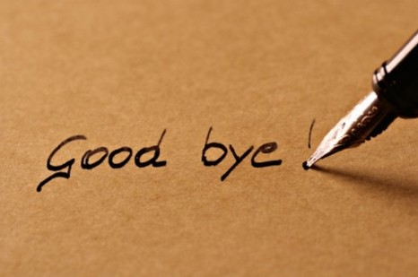 Good Bye Written On Paper Picture
