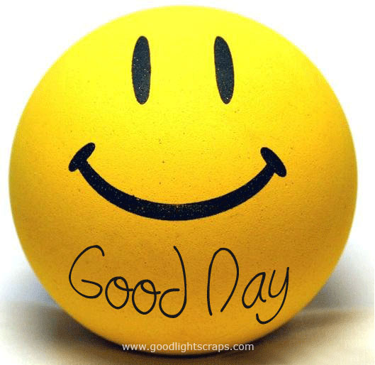 Good Day Smiley Ball Image