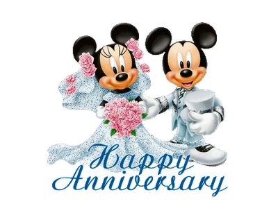 Happy Anniversary Mickey Mouse Card