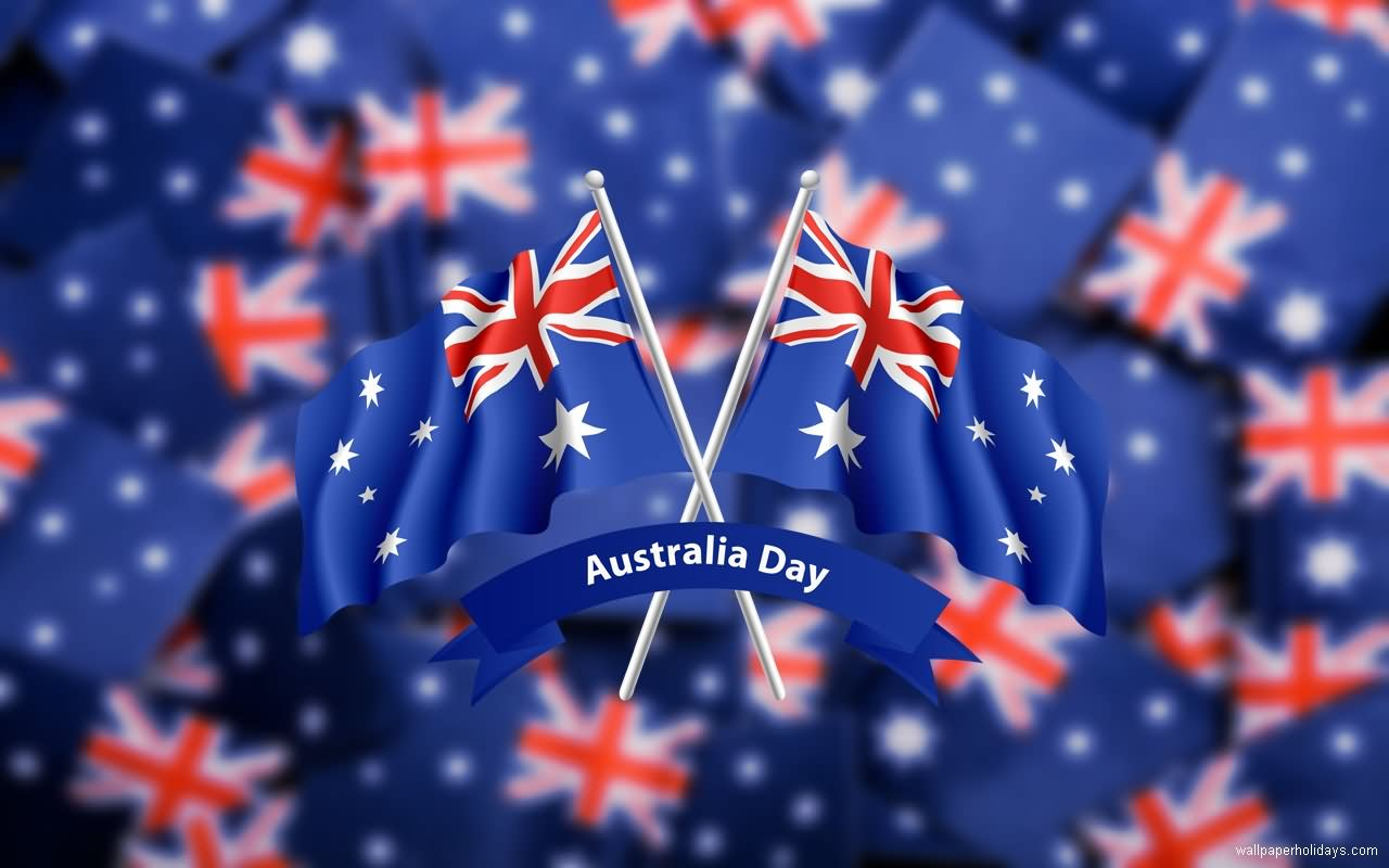 Happy Australia Day Flags Image