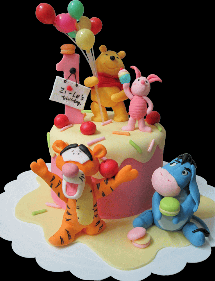 Happy Birthday Cake Pooh And Friends Picture