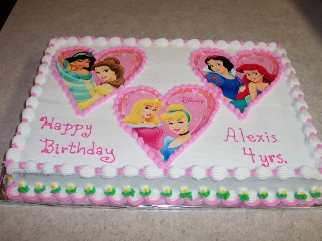 Happy Birthday Disney Princess Cake Picture