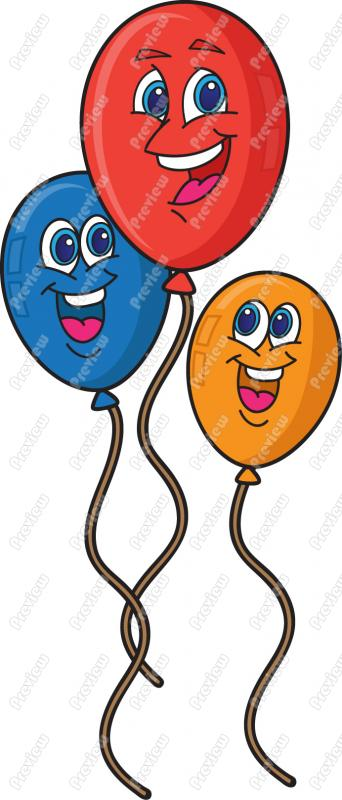 Happy Birthday Smiley Balloons Card Greeting