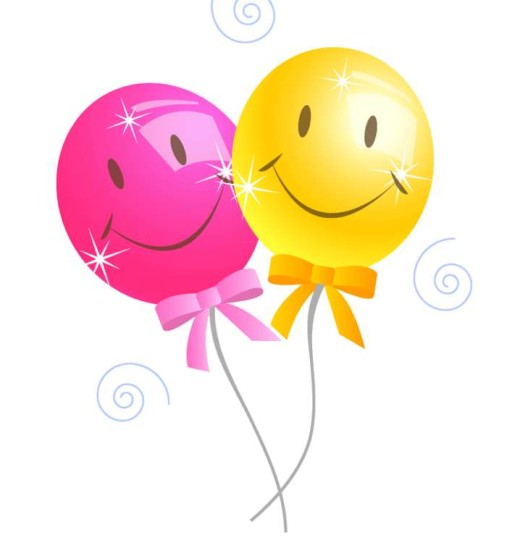 Happy Birthday Smiley Balloons Greetings Card