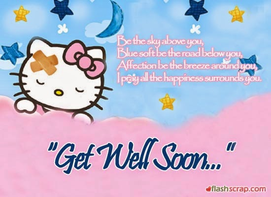 Hello Kitty Get Well Soon E-Card Wishes