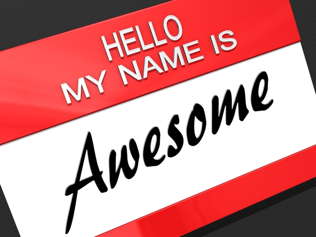 Hello My Name Is Awesome