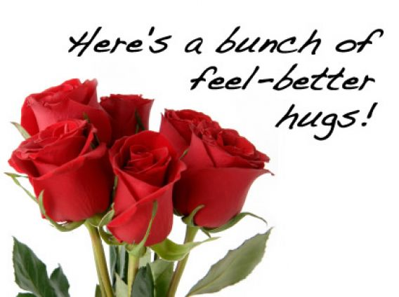 Heres A Bunch Of Feel Better Hugs! Wishes Image Nice Wishes