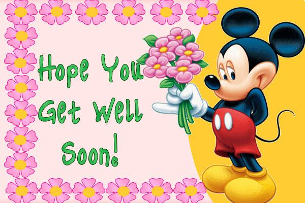 Hope You Get Well Soon Mickey Mouse Greeting