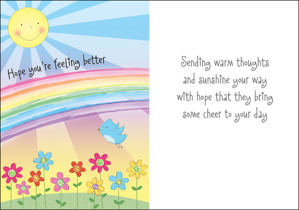 Hope You're Feeling Better Wishes Card
