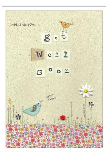 Hoping That You Get Well Soon Greeting Card Wishes