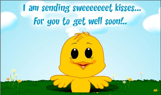 I Am Sending Sweet Kisses For You To Get Well Soon Wishes