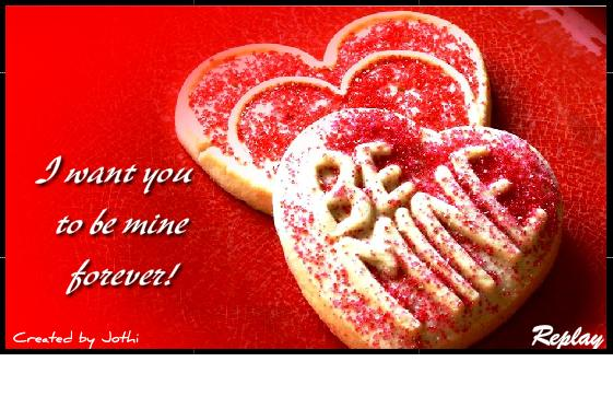 I Want You To Be Mine Forever Heart Cookies Picture