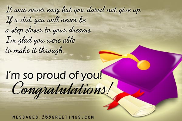 Im So Proud Of You Congratulations On Graduation Greeting Image