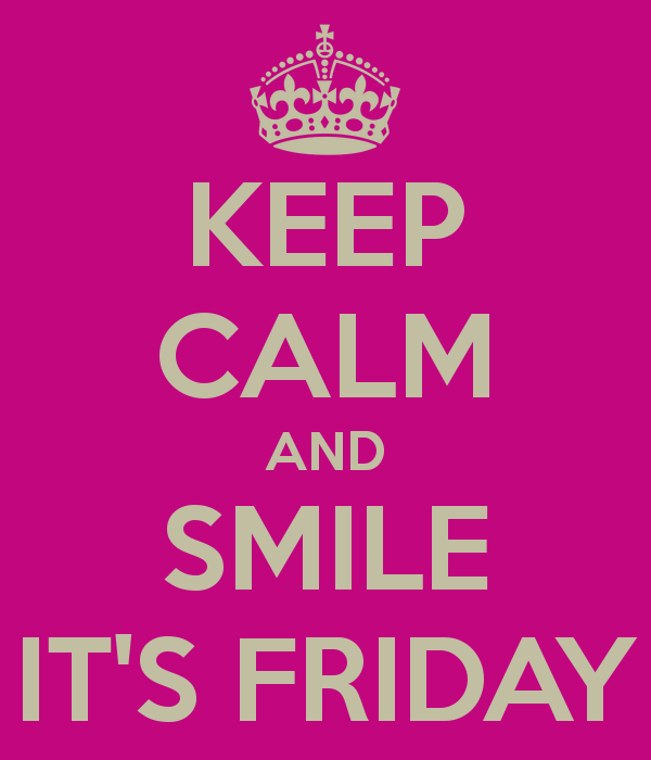 Keep Calm And Smile It's Friday Image