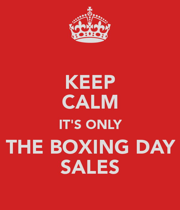 Keep Calm Its Only The-Boxing Day Sales Image