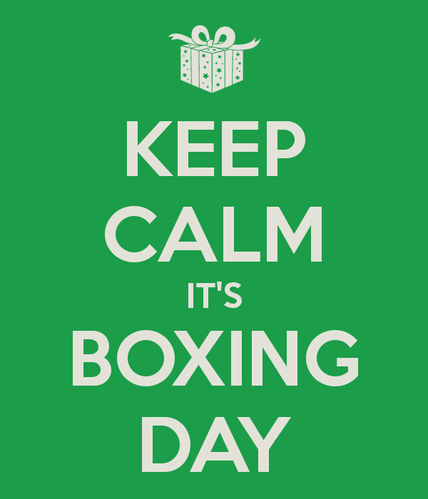 Keep Clam Its Boxing Day Wishes