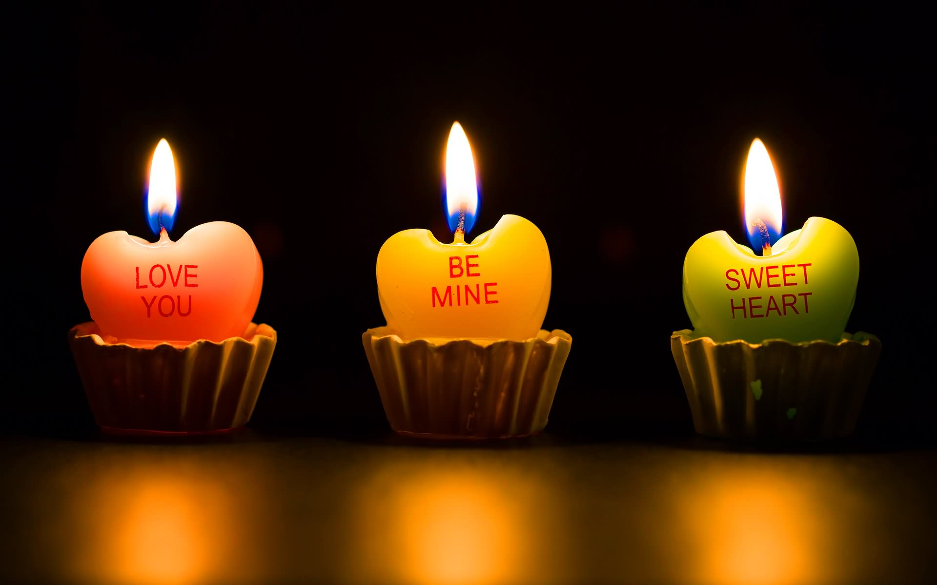 Love You Be Mine Sweet Heart Candles Image