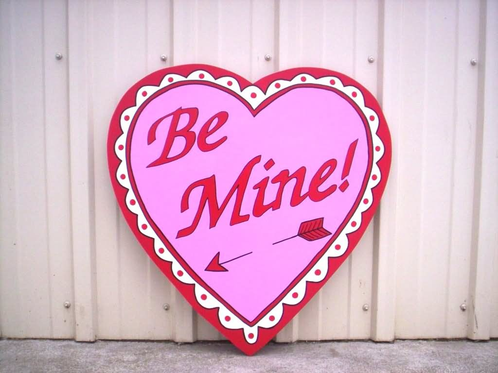 Lovely Be Mine Heart Greeting Card