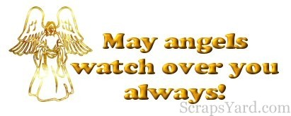 May Angels Watch Over You Always Wishes Face Photo