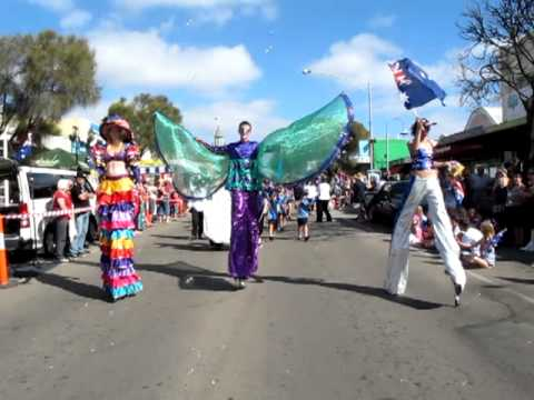 People Performing On Australia Day Parade