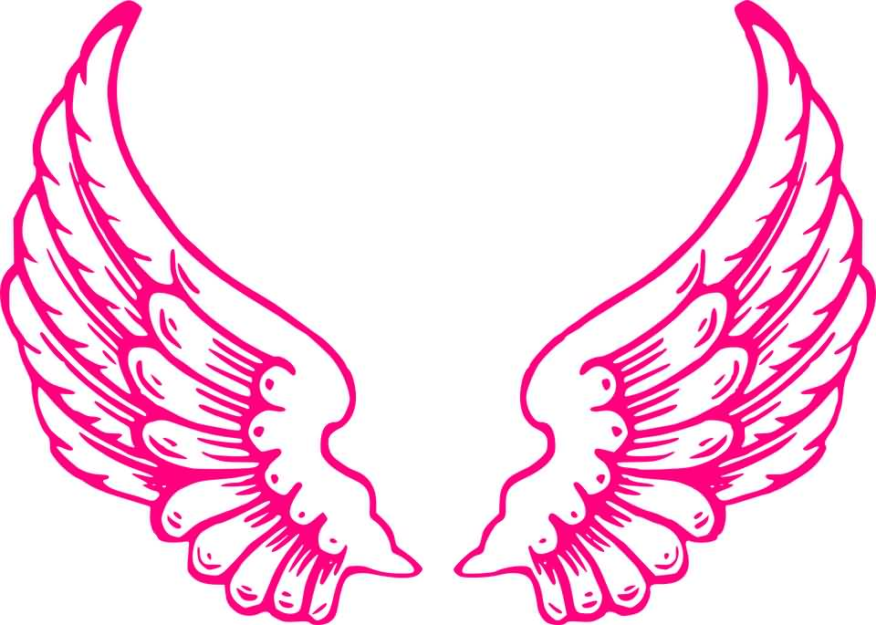 Pink Angel Wings Graphics