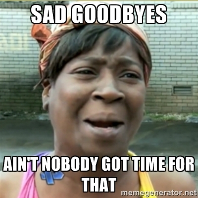 Sad Goodbyes Aint Nobody Got Time For That Meme