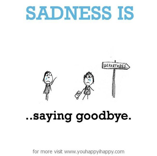 Sadness Is Saying Goodbye Image