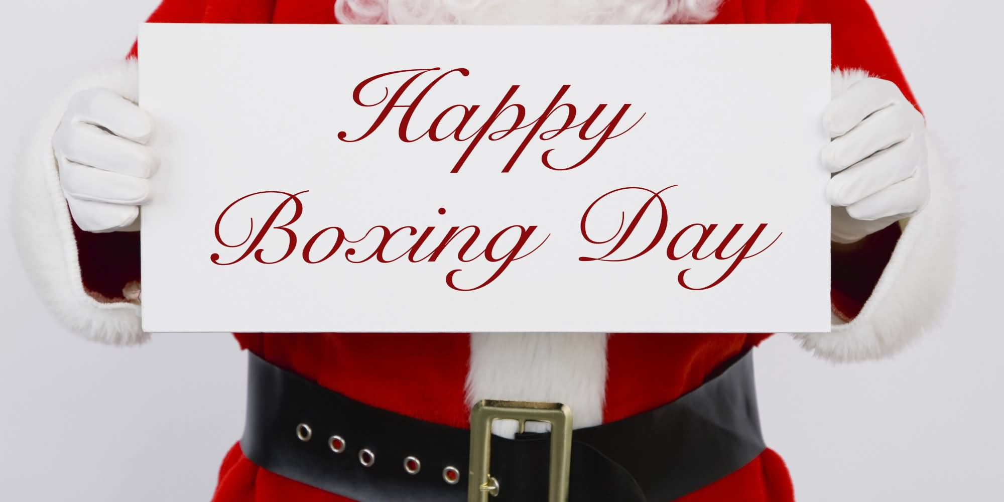 Santa Clause Greetings Happy Boxing Day Picture