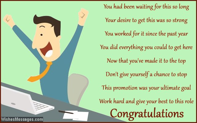 This Promotion Was Your Ultimate Goal Work Hard And Give Your Best To This Role Congratulations Greeting Picture
