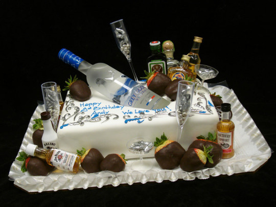 Vodka Bottle Birthday Cake Idea