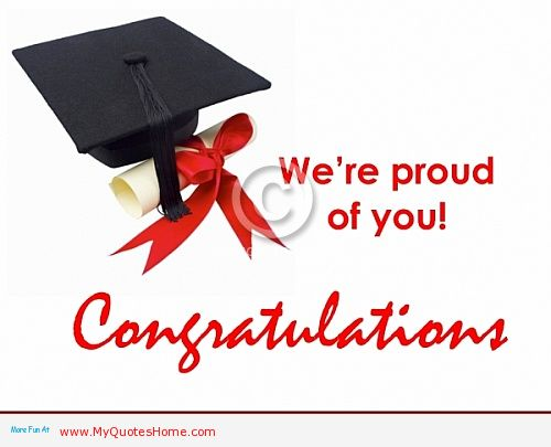Were Proud Of You Congratulations Greeting Picture