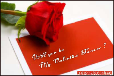 Will You Be My Valentine Forever Wishes E-Card