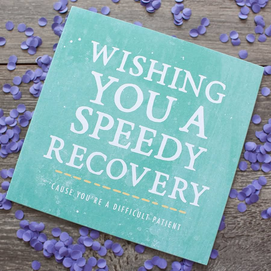 Wishing You A Speedy Recovery Get Well Soon E-Card