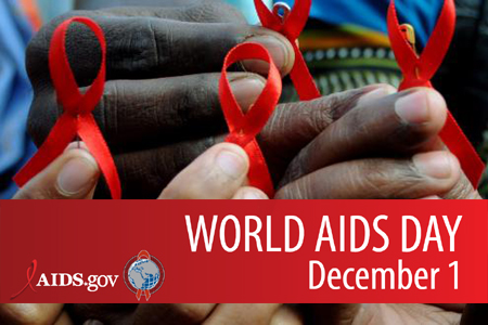 World Aids Day December 1 Ribbons