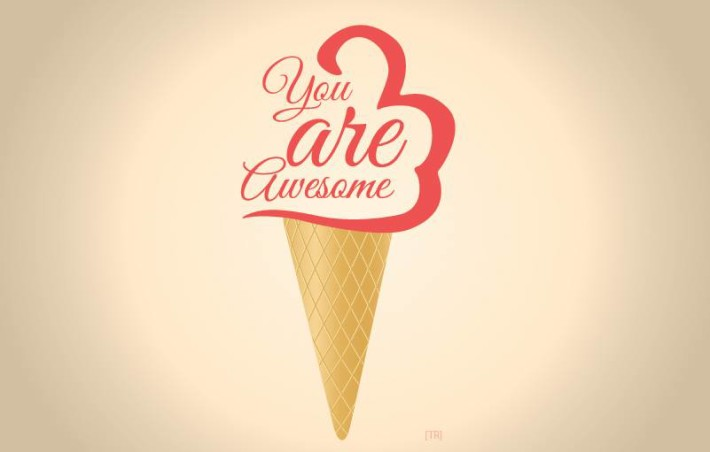 You Are Awesome Ice Cream