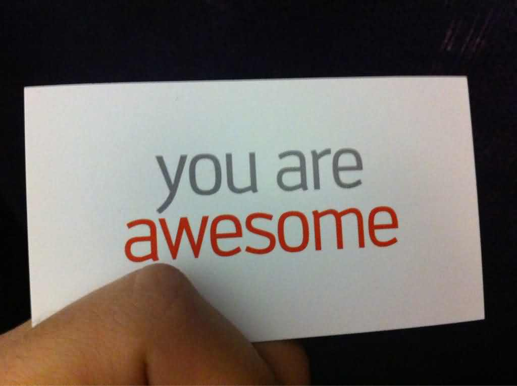 You Are Awesome Sticky Note