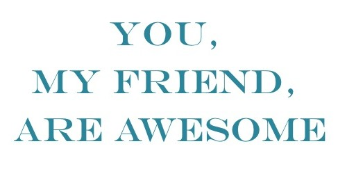 You My Friend Are Awesome