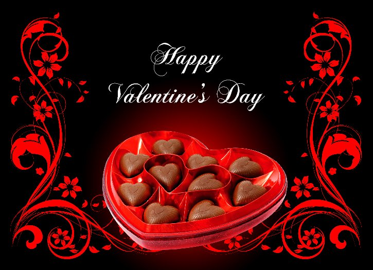 Awesome Happy Valentines Day Chocolate Box Image