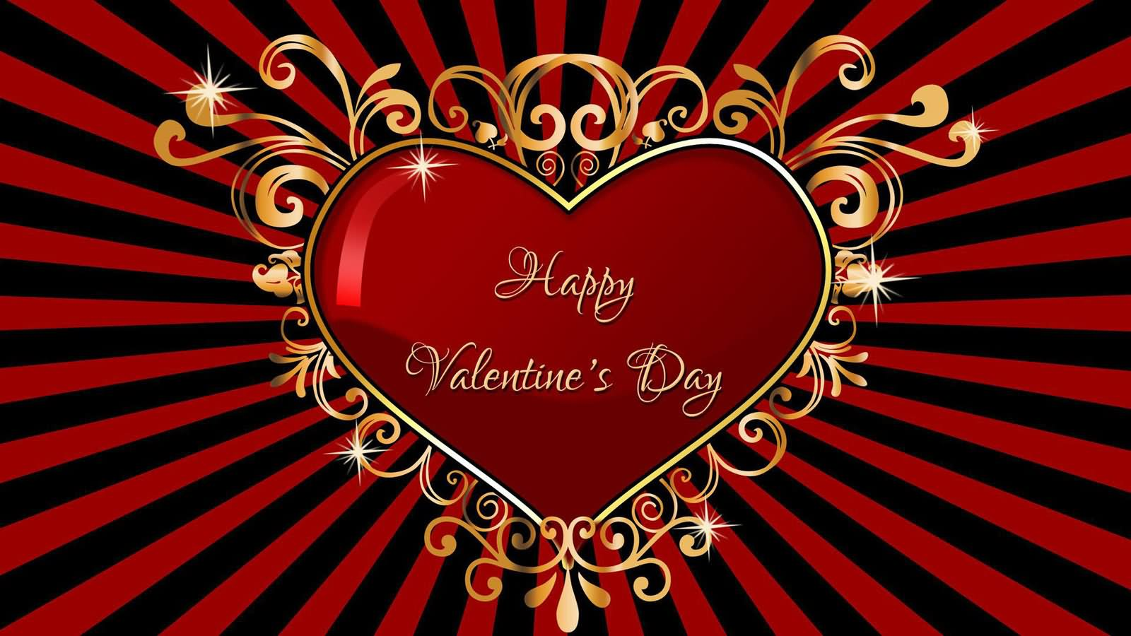 Awesome Happy Valentines Day Heart Wishes Picture