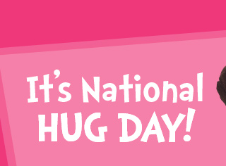Awesome It's National Hug Day Greeting Image