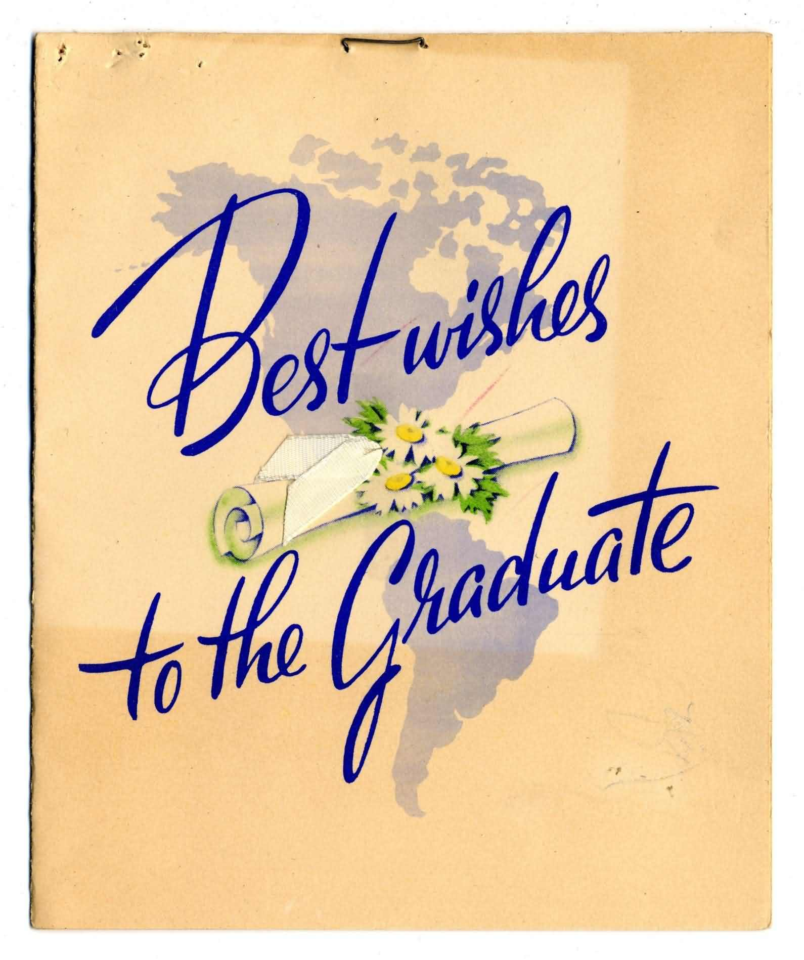 Best Wishes To The Graduate Greeting Card For Brother