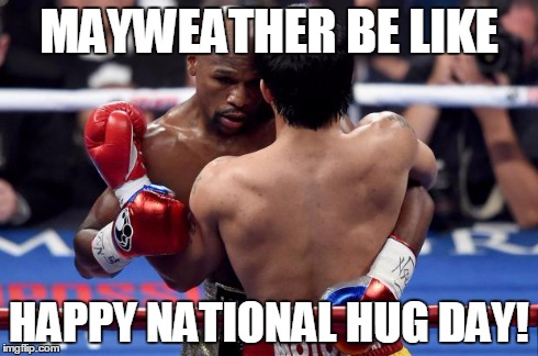 Boxers Hugging On Happy National Hug Day