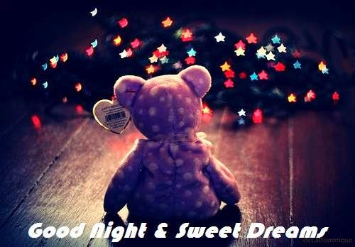 Boyfriend Good Night Sweet Dreams Teddy Bear