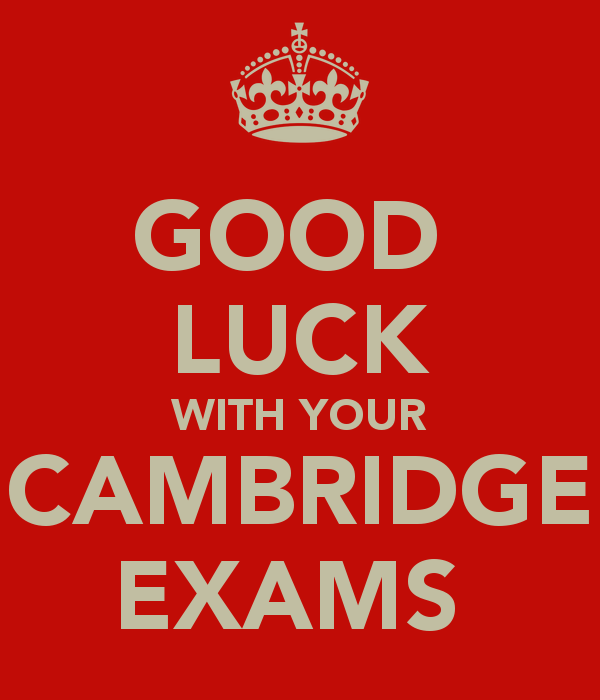 Brilliant Good Luck With Your Cambridge Exams Image