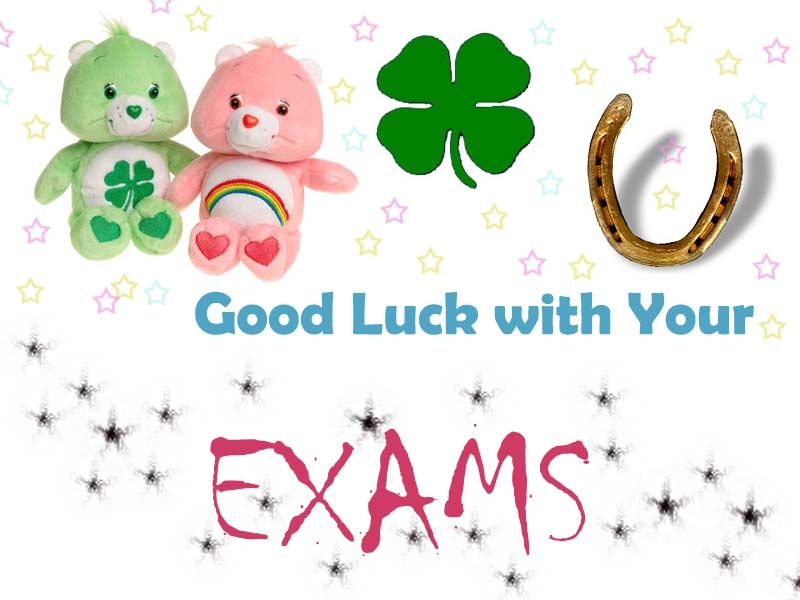 Cute Good Luck With Your Exams From Girlfriend