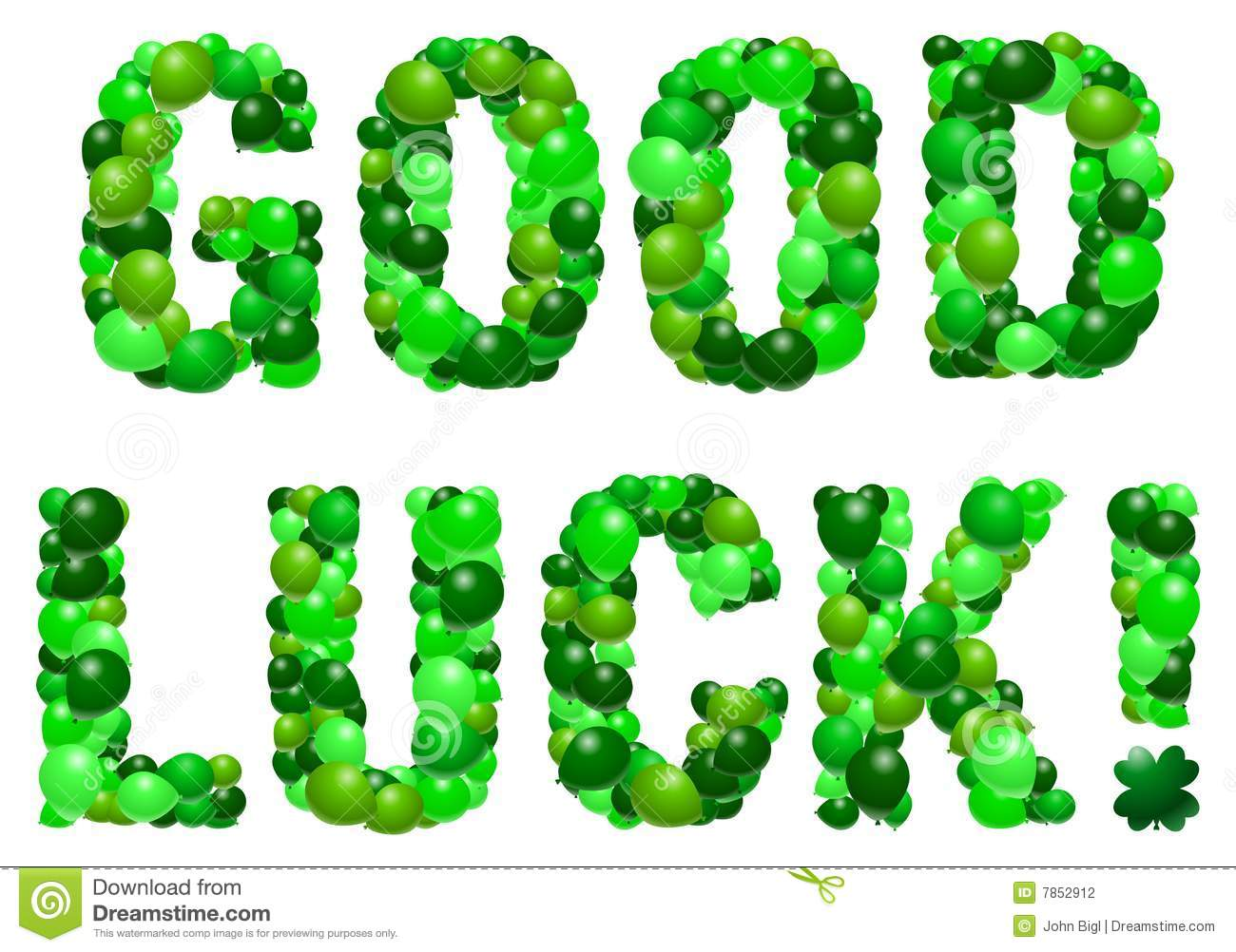 Fabulous Text Good Luck Greetings