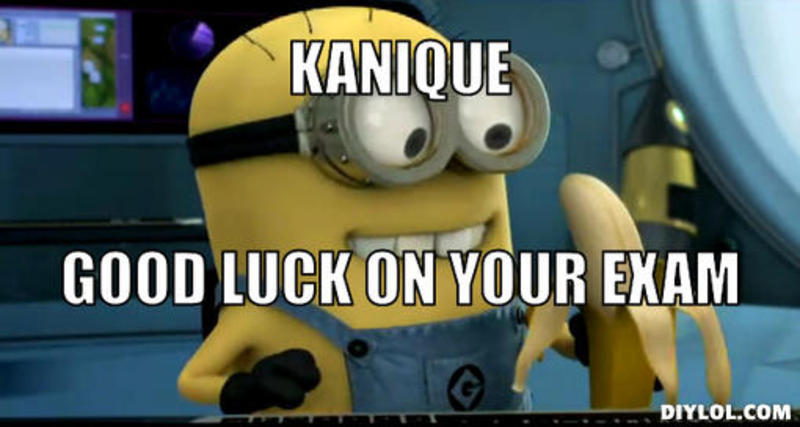 Funny Good Luck On Your Exam Minion Image